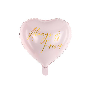 Ballon coeur rose Always & Forever
