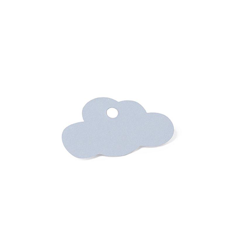 Étiquette dragées Bapteme Nuage Bleu x 12