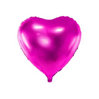 Ballon coeur fuchsia brillant