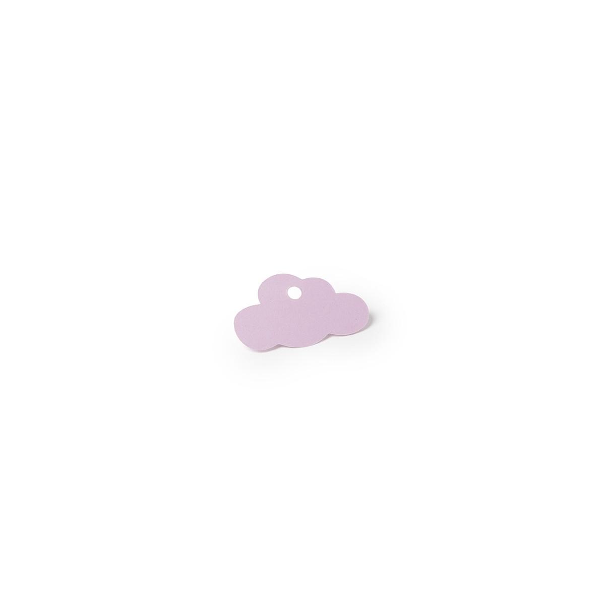 Étiquette dragées Bapteme Nuage Rose x 12