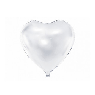Ballon Mylar Coeur Blanc