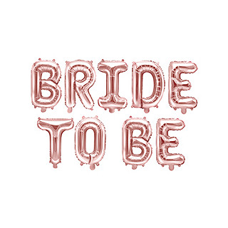 "Ballon lettres ""bride to be"" EVJF"