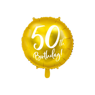 Ballon Anniversaire jaune gold 50 ans