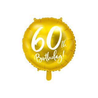 Ballon Anniversaire jaune gold 60 ans