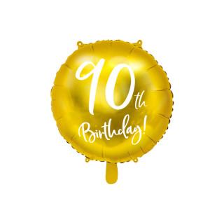 Ballon Anniversaire jaune gold 90 ans