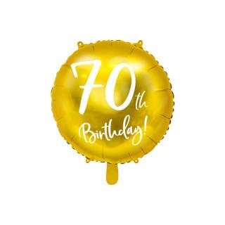 Ballon Anniversaire jaune gold 70 ans