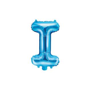 Ballon Lettre I bleu