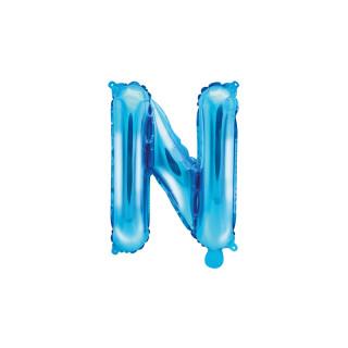 Ballon Lettre N bleu