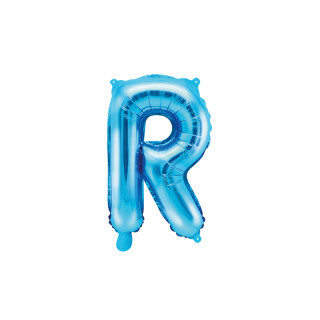 Ballon Lettre R bleu