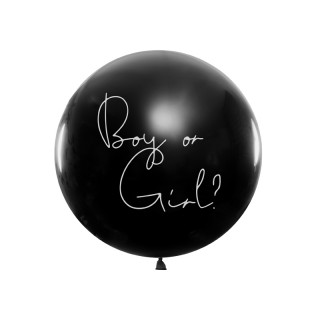 "Ballon géant baudruche ""Boy or Girl ?"" Fille 1m"
