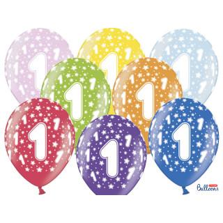 ballon multicolore anniversaire 1 ans