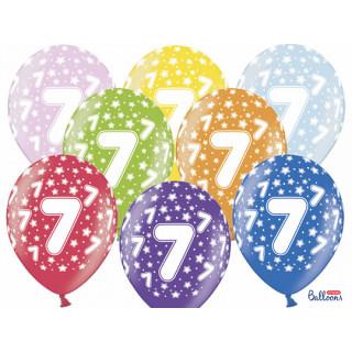 Ballon multicolore anniversaire 7 ans
