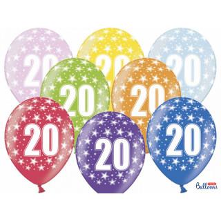 Ballon multicolore anniversaire 20 ans
