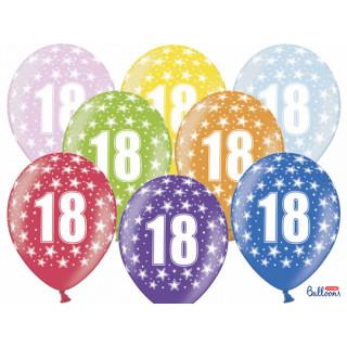 Ballon multicolore anniversaire 18 ans