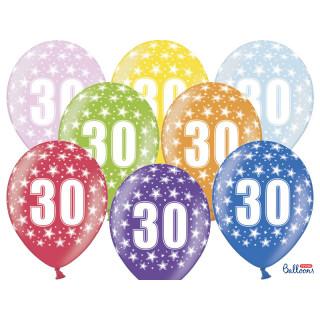 Ballon multicolore anniversaire 30 ans
