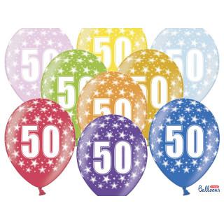 Ballon multicolore anniversaire 50 ans