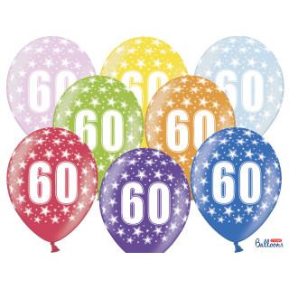 Ballon multicolore anniversaire 60 ans