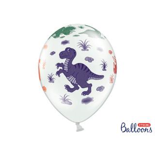 Ballon blanc dinosaure
