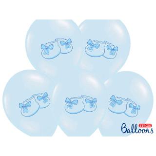 Ballon de baudruche Bleu ciel chaussons bébé