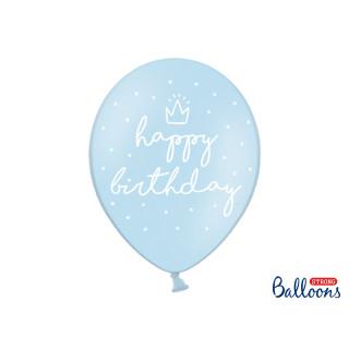 Ballon de baudruche bleu anniversaire garçon