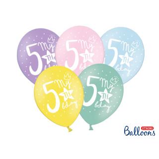 ballon multicolore anniversaire 5 ans