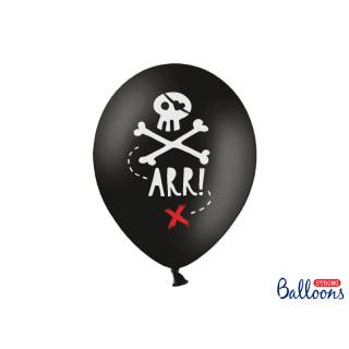Ballon anniversaire pirate noir