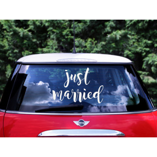 Deco Voiture Mariage Sticker Just Married