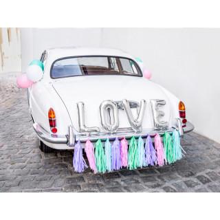 Kit Déco Voiture Mariage Love multicolore