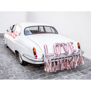 Déco Voiture Mariage Love rose gold