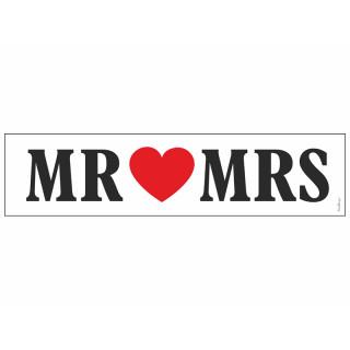 Plaque d'immatriculation Voiture Mariage Mr Mrs