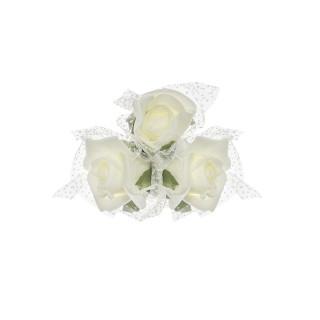 Bouquet de rose ivoire avec ventouse