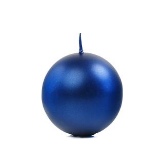 Bougie Ronde Metallisée bleu marine