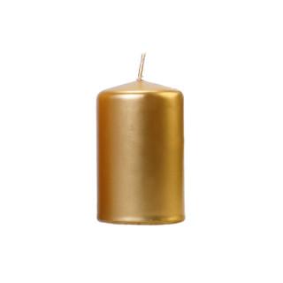 Bougie cylindrique métallisée or