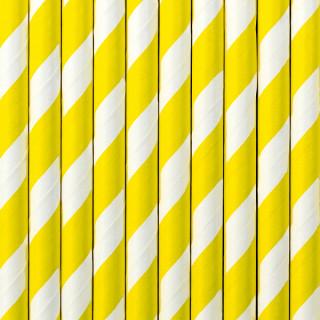 Pailles blanches et jaune