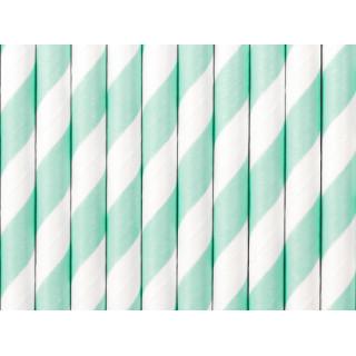 Pailles blanches et vert clair
