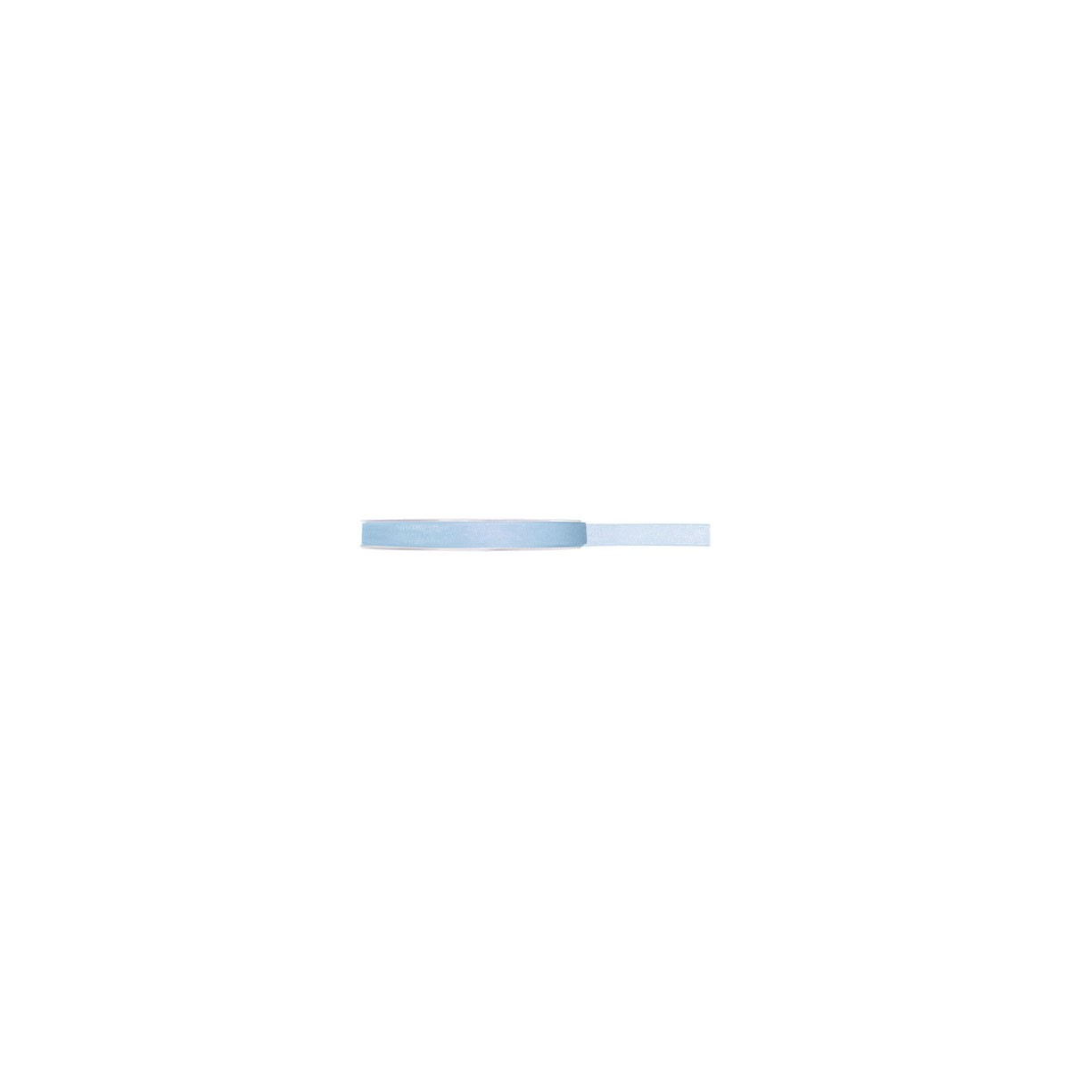 Ruban Organdi Bleu Ciel - 7 mm