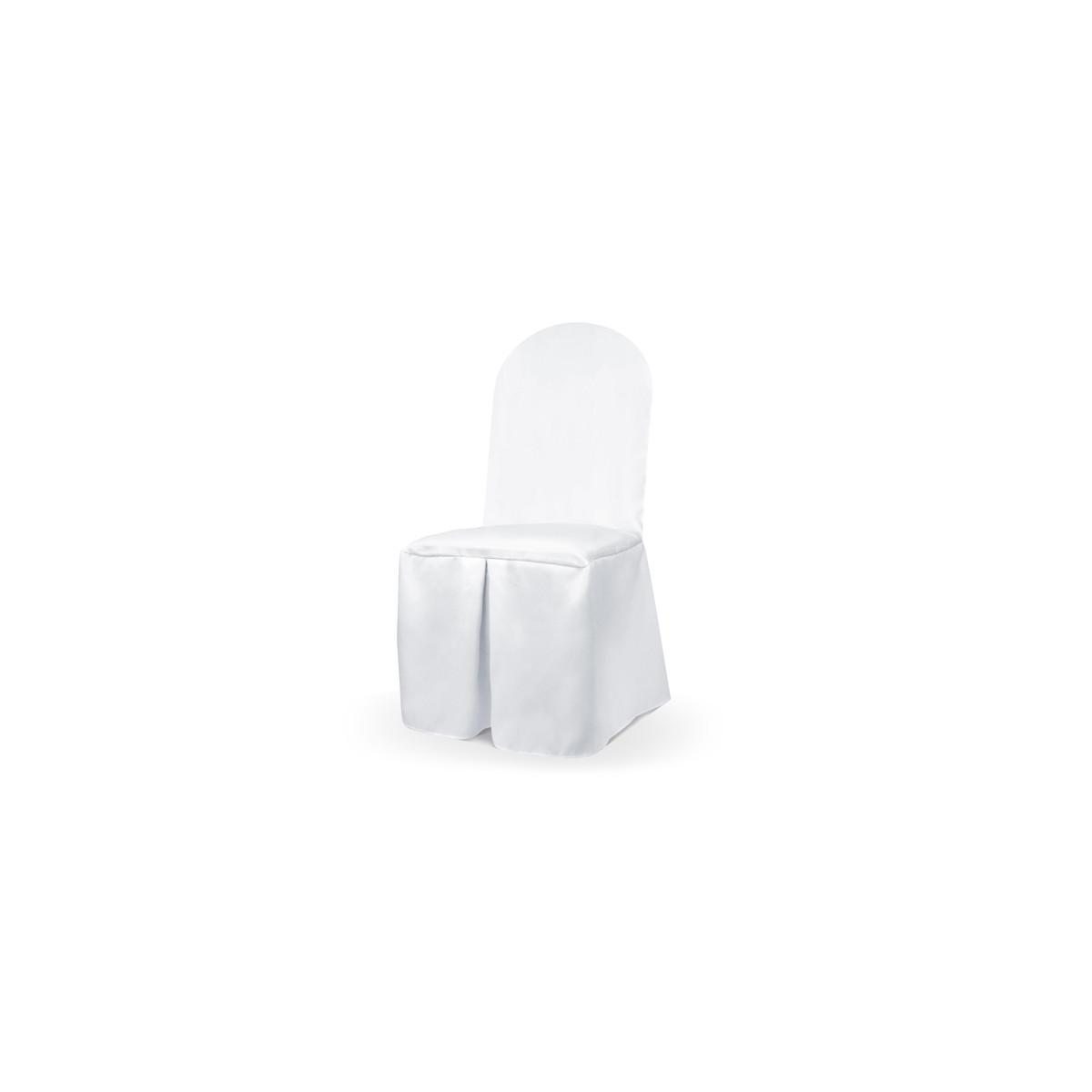 Housse Chaise Mariage tissu blanc