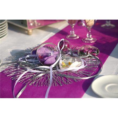 Set De Table Sinamay Argent x 4