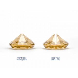 Marque place diamant jaune or