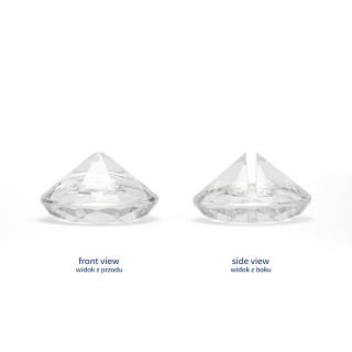 Marque place diamant transparent