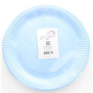 x10 Assiettes Bleu laquée