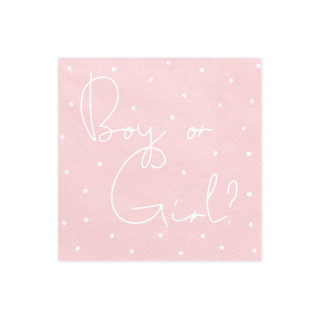 Serviettes Papier boy or girl rose et bleu