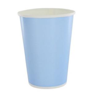 x10 Gobelets carton Bleu
