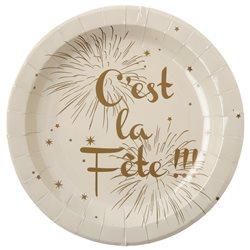 Assiette C'est la Fête x 10