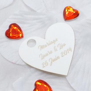 x1 Etiquette Coeur personnalisée