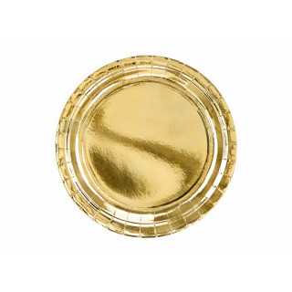 Assiette Carton Métallisée or