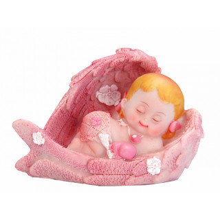 Figurine Baptême Fille Ange