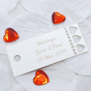 x1 Etiquette rectangle coeur personnalisée