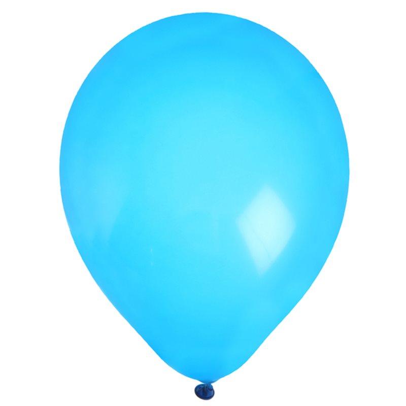 Ballon de Baudruche uni Turquoise x 8