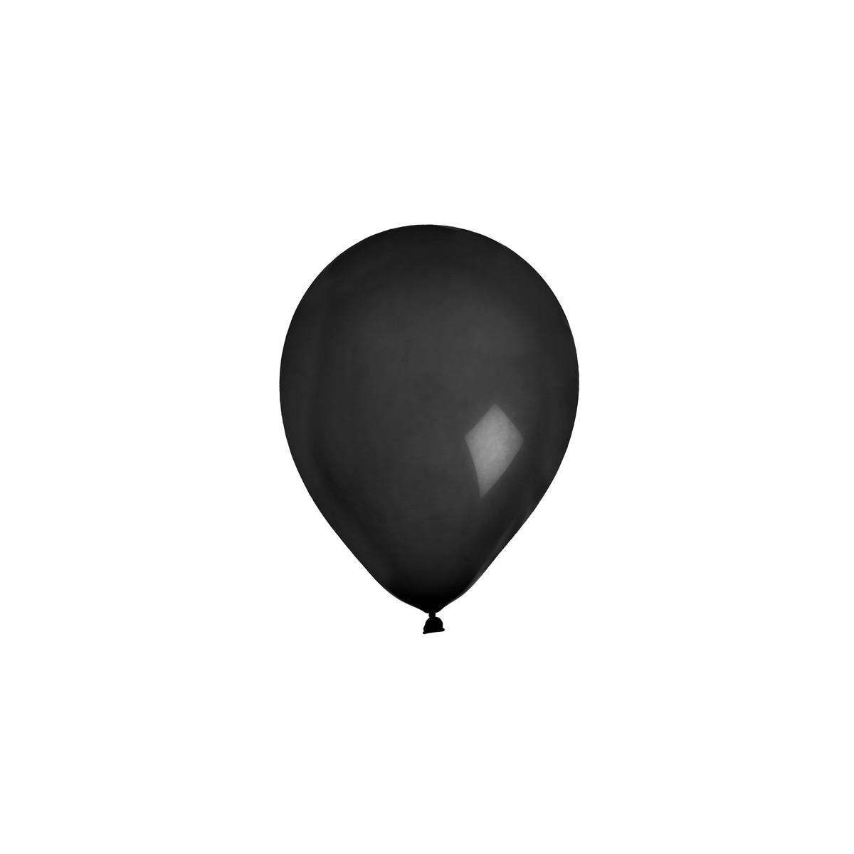 Ballon de Baudruche uni Noir x 8